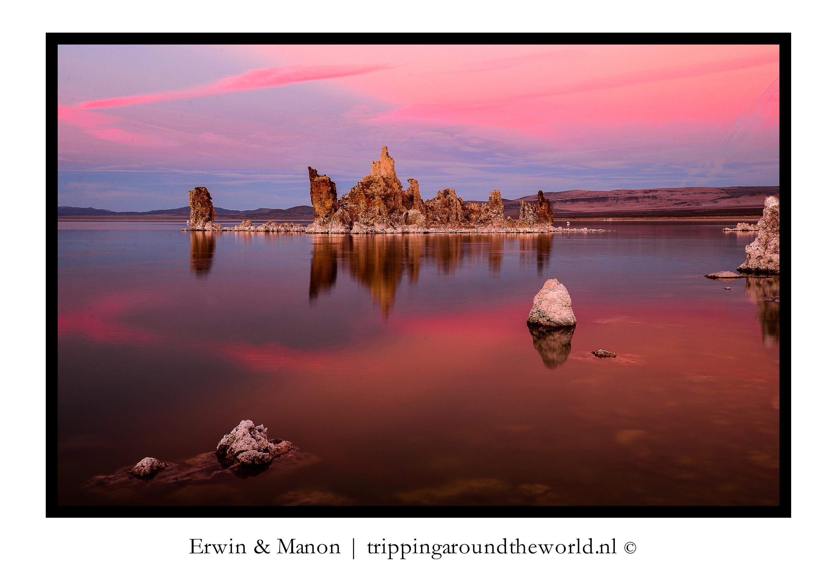 zonsondergang Mono Lake#5